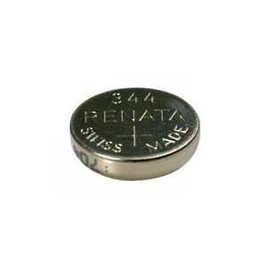 #344 (SR1136SW) Renata Mercury Free Watch Batteries - Strip of 10