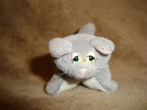 Galoob-Pound-Purries-Pur-r-ries-Baby-Kitten-grey-cat-plush-2-5-034-long-x-2-034-tall
