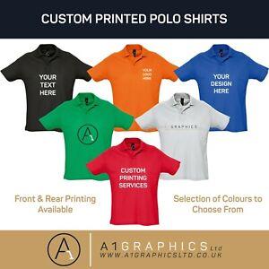 Personalised Custom Printed Polo Shirt