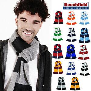 Beechfield-Stadium-Echarpe-A-Rayures-Unisexe-equipe-Hiver-Accessoire-couleurs-vives
