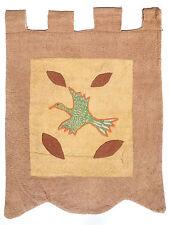 RAINFOREST bird CENTRAL American MISKITO Honduran textile TAPESTRY 1970 Tunu