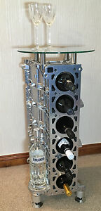 engine block wine rack side table coffee table ebay. Black Bedroom Furniture Sets. Home Design Ideas