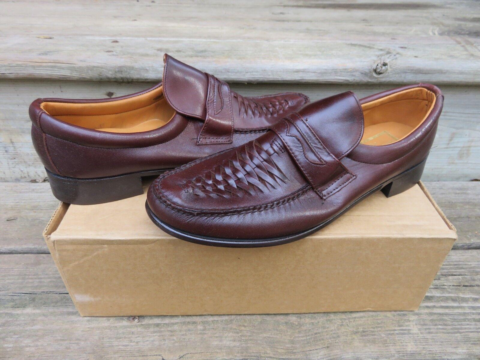 presa di marca NEW Stuart Stuart Stuart McGuire Moccasin Slip-on Penny Loafer Dress scarpe Burgandy Sz.410  il più economico