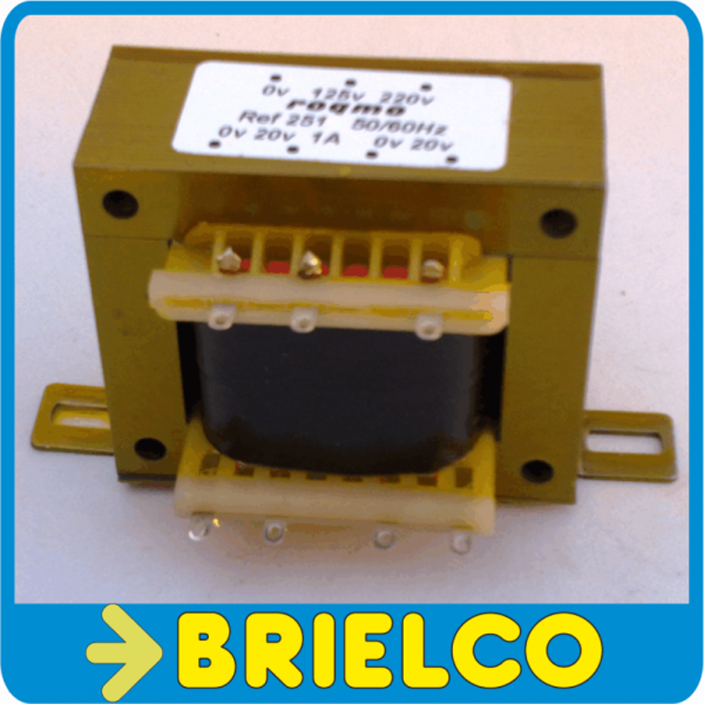 TRANSFORMADOR ALIMENTACION 220VAC A 6V+6V 0.75A 12V 0.5A CHASIS ABIERTO BD8286
