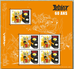 France-2019-Bloc-Asterix-60-ans-5v-MNH-Neuf