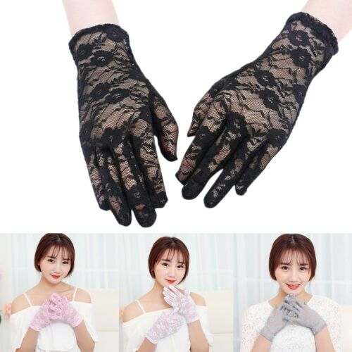 Elegant Women Ladies Short Lace Gloves .Weddingm Costume Driving Fancy Dance
