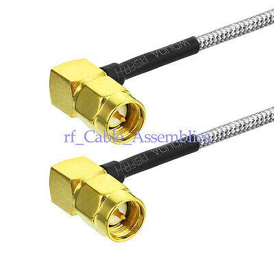 SMA female to SMA female jack RF lot RG402 3G 4G Semi Flexible blue jumper Cable
