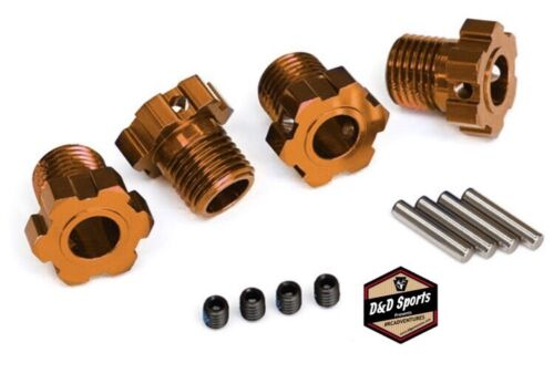 E-Revo VXL Brushless 4 Traxxas 8654A Wheel Hubs Splined 17mm Orange