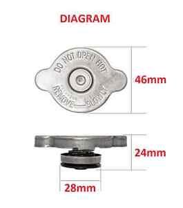 RADIATOR CAP SMALL 13 PSI 90 KPA RECOVERY SUIT KIA K2700 2.7L DIESEL 2002-2008
