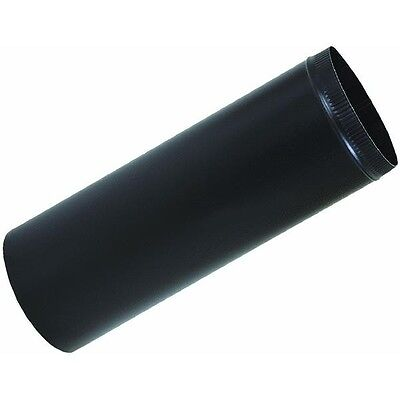 """Black stove pipe, 4"""" x 24"""", 28 ga, 6 pipes Snap Together Duct Wood Furnace"""