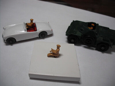 Vintage Matchbox No.19b MGA/61a Ferret. DIECAST PAINTED DRIVER ONLY.