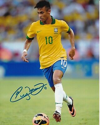 Neymar 12 Brazilian Football Player Poster Sport Photo Motivation Signed Picture