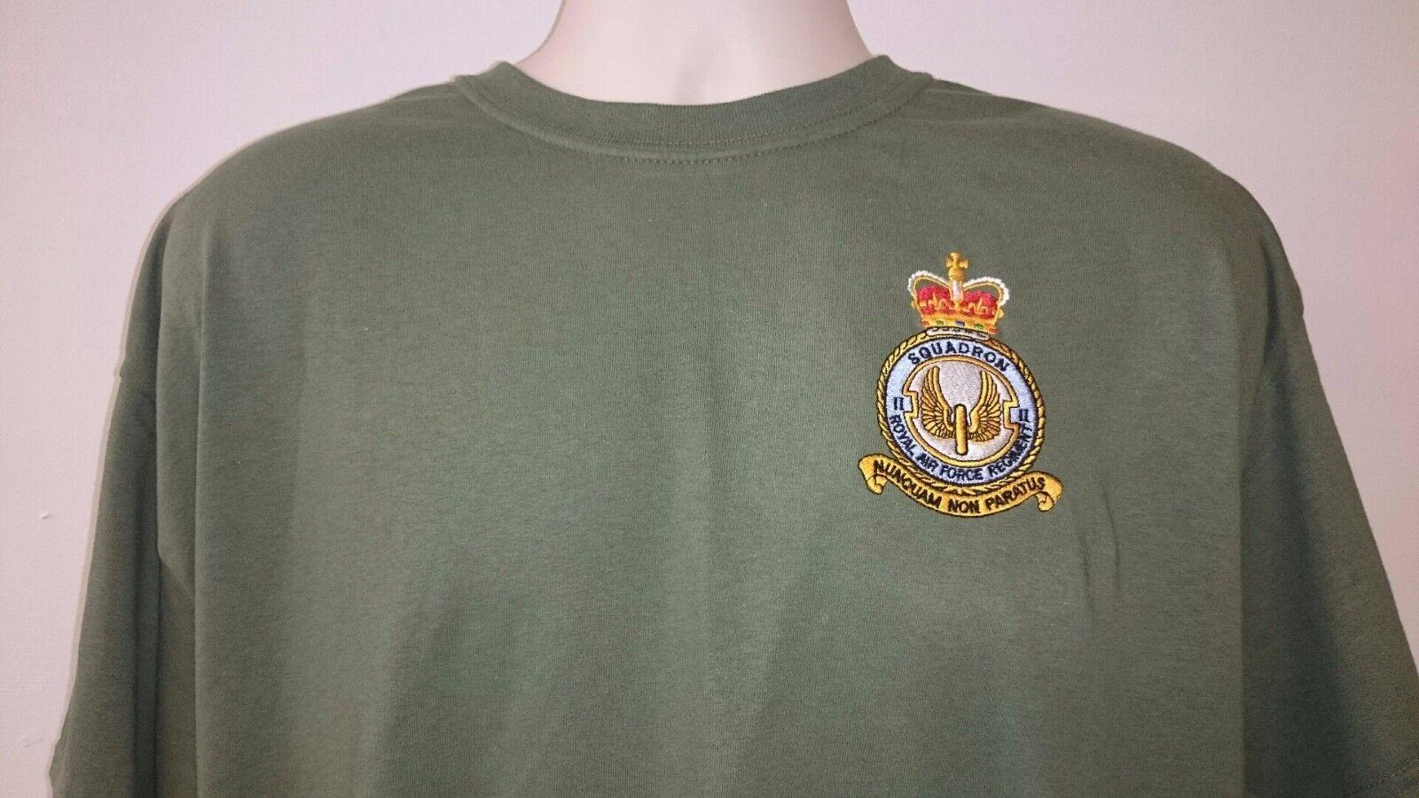 63 RAF Regiment Crest Imprimé sur un t shirt Choix de Couleurs