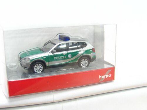 KV5425 Herpa 1//87 090544 BMW X3 Polizei Bayern OVP