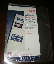 GBC VeloBind Transparent Presentation Covers – Pre-Punched – 20
