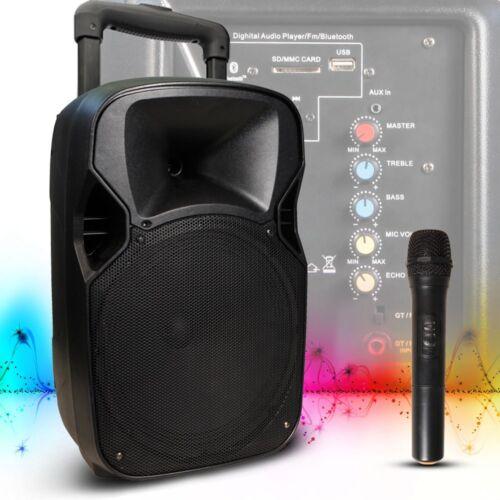 Musik Live Anlage Bluetooth USB SD Party Veranstaltung AUX Akku Big Light