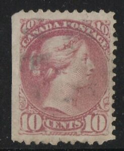 MOTON114-40-Small-Queen-10c-Canada-used-well-centered