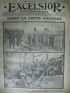 WW1-N-1430-BELGIQUE-ANVERS-RESISTANCE-PRISONNIERS-MAROC-JOURNAL-EXCELSIOR-1914
