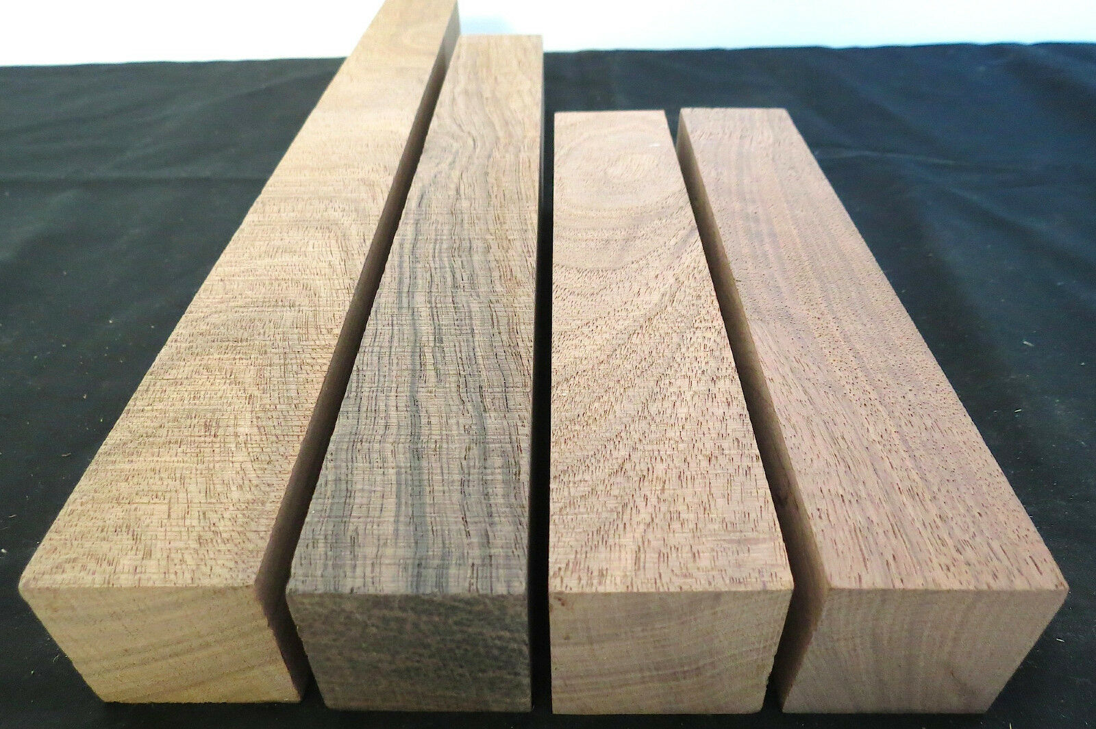 FOUR turning squares lathe spindle blanks duck game turkey trumphet box call, KD