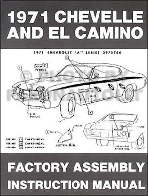 1972 CHEVELLE EL CAMINO MONTE CARLO Assembly Manual