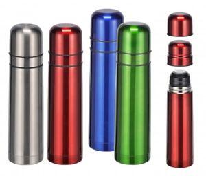 Edelstahl Isolierflasche Thermosflasche Thermoskanne 075 Liter Mit