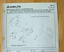 Original Delta 12 Standard Amp Heavy Duty Wood Lathes Illustrated Parts List Wl 6