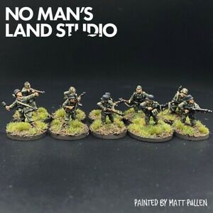 Pro-Painted-15mm-WW2-Late-War-German-Squad-Section-Chain-Of-Command
