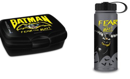 Trinkflasche Flasche AS56 BATMAN 2er Set Lunchbox Brotdose