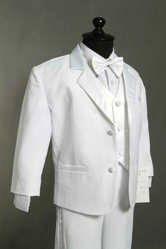 SPECIAL OFFER BOYS WHITE TUXEDO WITH FREE COLOR BOW TIE ALL OCCASION Wedding