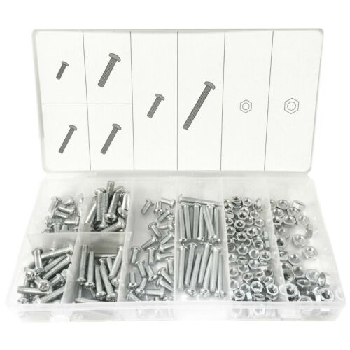 Brand New DIY 220pc Nuts & Bolts Assorted Set M5 / M6 Nuts & Bolts With Case