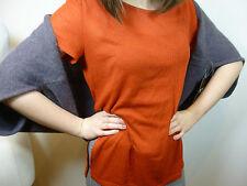 BNWT Pure Collection slate grey/purple cashmere blend shrug/bolero/scarf XL  O/S
