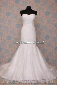 1599-White-Ivory-wedding-dress-mermaid-skirt-ombera-size-8-10-12-14-16-18-20-UK