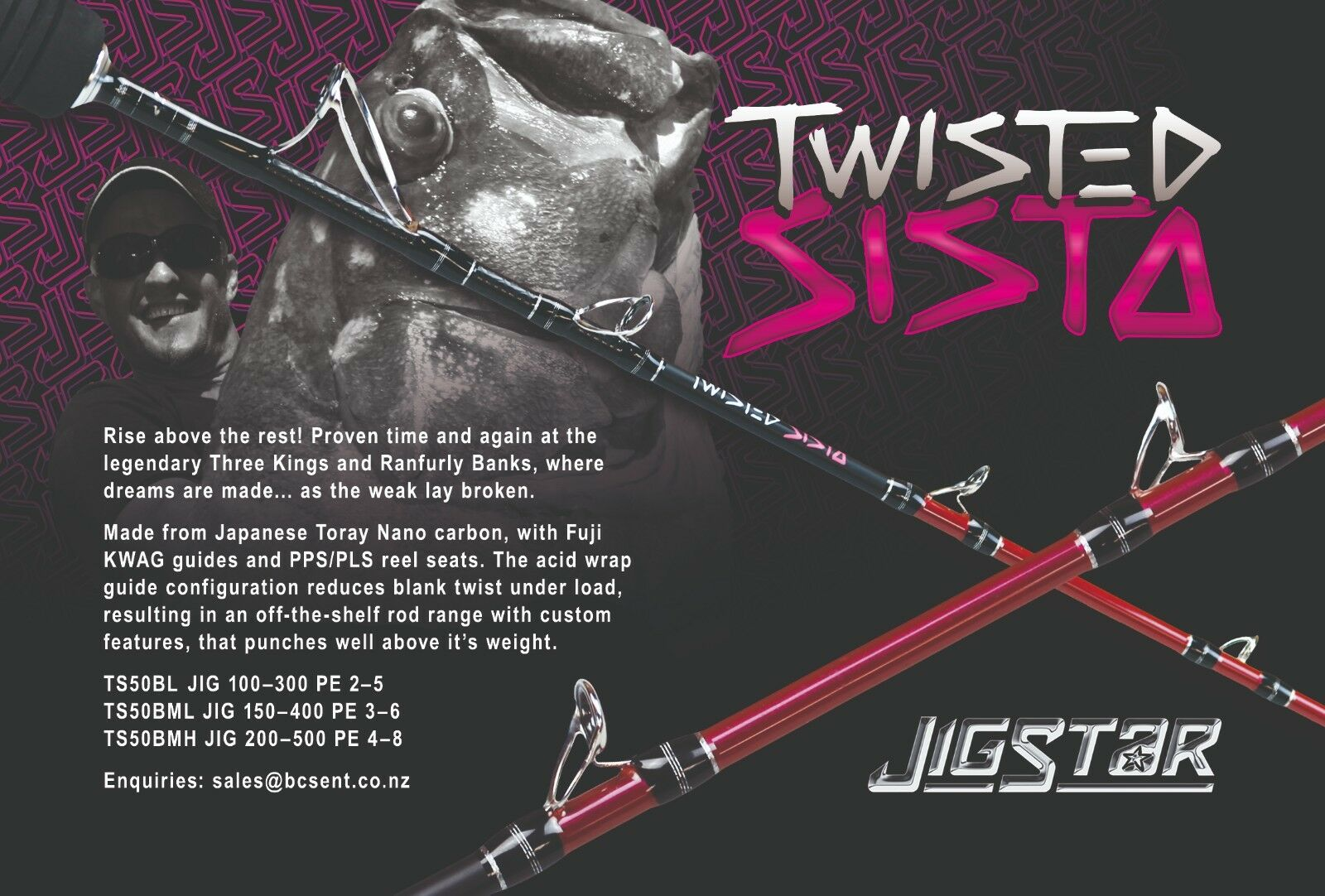 Jigstar Twisted Sista Jigging Rod 5ft Spiral  Guide (3 Ratings Available)  more affordable