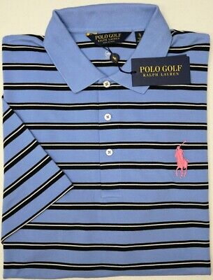 NWT $89 Polo Ralph Lauren Blue Shirt Mens Short Sleeve NEW Flag Embroidery