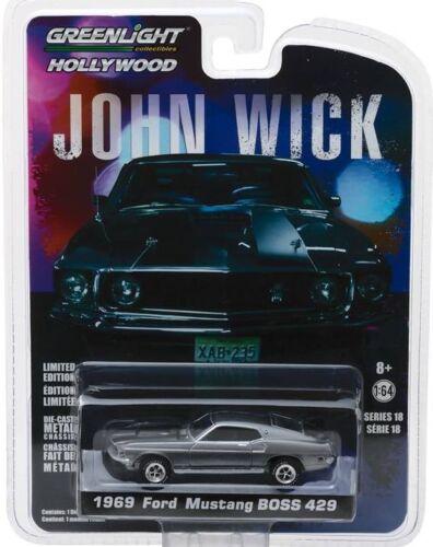 /' 69 Ford Mustang Boss 429 John Wick película auto 1969 *** GreenLight 1:64 OVP