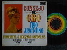 1SV PEERLESS EPP 830 CONSEJO DE ORO TRIO ARGENTINO PIMENTEL LEDEZMA MEDELES