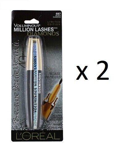L`Oreal Paris Voluminous Million Lashes Diamonds - Limited Edition (2 Pack)