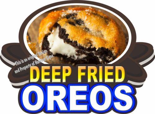 "Deep Fried Oreos Decal 14/"" Concession Trailer Food Truck Vinyl Menu Sticker"
