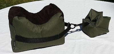 LIMITED TIME! Prefilled Large Shooting Bag Set Rifle Gun Rest Front & Rear Bags