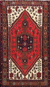 Tribal-Traditional-Geometric-Hand-knotted-Hamedan-Area-Rug-Oriental-Carpet-3-039-x5-039