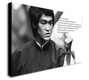 Bruce Lee Famous Quote Empty Your Mind Canvas Wall Art Print