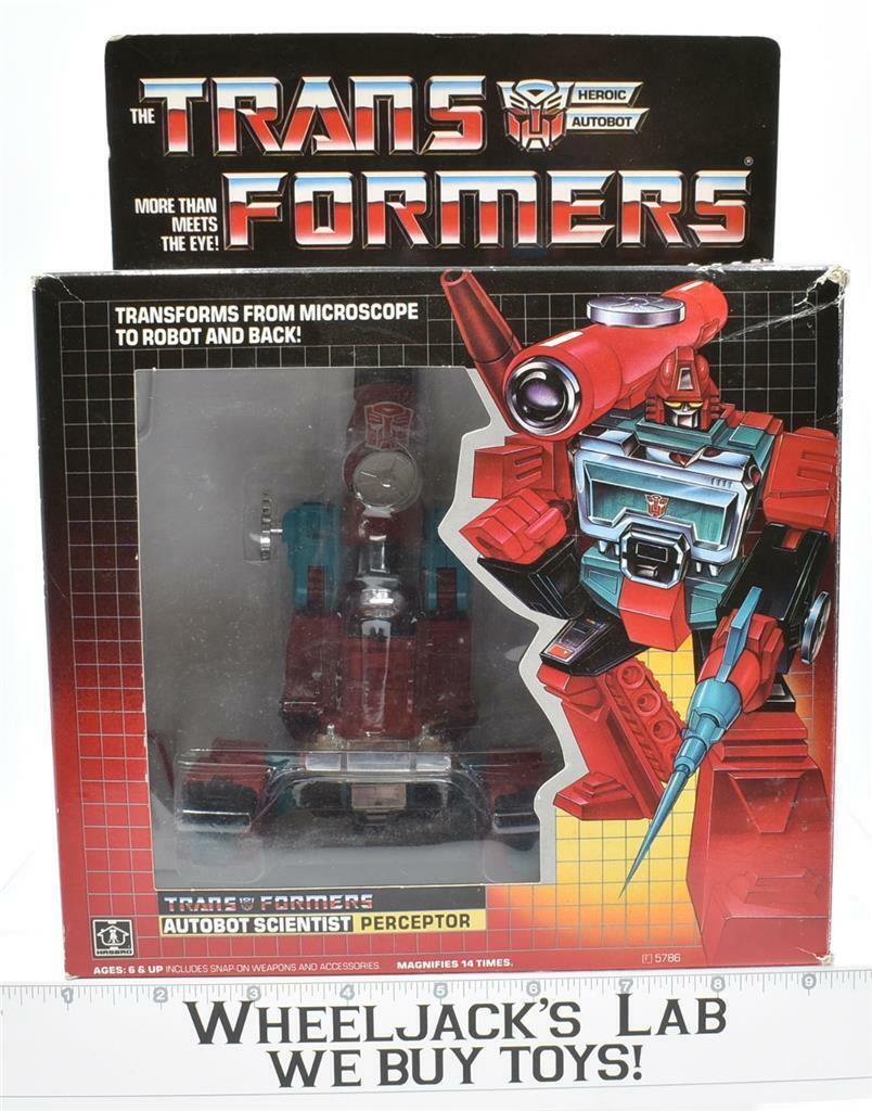 Perceptor MIB 100% Complete J 1985 Vintage Hasbro G1 Transformers Action Figure