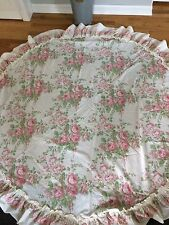 ROUND COTTAGE COUNTRY ROSE TABLECLOTH PINK LAURA ASHLEY SUMMER COTTAGE SHABBY