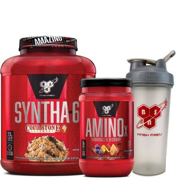 BSN Syntha6 Cold Stone Protein Powder Plus BSN Amino X 30 Serve Pus FREE Shaker