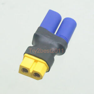 DIRECT CONNECT NO WIRE FEMALE EC5 TO MALE XT60 LIPO BATTERY CONNECTOR ADAPTER