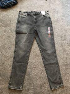 M/&S Dark Orange Mid Rise  Super  Skinny Jeans Size 14 Long BNWT Free Sameday P/&p