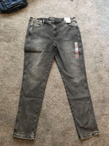 M/&s Noir Mix Jean Filiforme Taille Haute Taille 18 Court BNWT Gratuit SAMEDAY p/&p