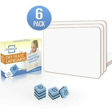 6 Pack Dry Erase Lap Board 9x12 Interactive Learning Whiteboard Education