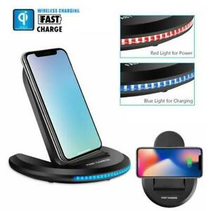 For-Samsung-Galaxy-Note9-S10-Wireless-Qi-Fast-Charger-Charging-Stand-Dock-Pad