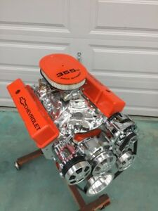 Details about 350 SBC CRATE MOTOR 420HP WITH A/C ROLLER chevy TURN KEY SBC  CNC BELOW COST